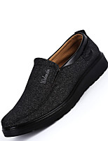 cheap -Men's Summer / Fall Casual / Preppy Daily Outdoor Loafers & Slip-Ons Linen Non-slipping Wear Proof Black / Gray / Coffee