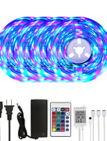 cheap -MASHANG 20M LED Strip Lights RGB Tiktok Lights 1200LEDs Flexible Color Change SMD 2835 with 24 Keys IR Remote Controller and 100-240V Adapter for Home Bedroom Kitchen TV Back Lights DIY Deco
