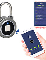 cheap -Fingerprint Padlock Bluetooth Smart Electric Door Lock Locker Rechargeable Battery Anti-Theft Security for House