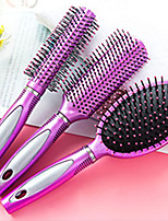 cheap -Hair Scalp Massage Comb Anti-static Curly Plastic Handle Round Hair Comb Brush Hairdressing Styling Tools