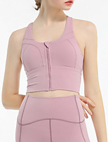 cheap -Women's Sports Bras Full Coverage Bra Black Blue Blushing Pink