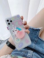 cheap -Case For Apple iPhone 7 8 7plus 8plus XR XS XS MAX X 11 11Pro 11ProMax Ring Holder Pattern Back Cover Word Phrase Cartoon TPU