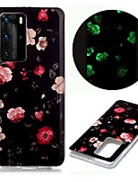 cheap -Case For Huawei Huawei P40 Pro Huawei P40 lite Huawei P40 Glow in the Dark Pattern Back Cover Rose TPU for Huawei Honor 10 Lite Y5 2019 Y6 2019 Y7 2019