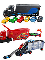cheap -Construction Truck Toys Transport Car Toy Carrier Truck Race Car Simulation Plastic Mini Car Vehicles Toys for Party Favor or Kids Birthday Gift Includes 6pcs Toy Cars 1+6 pcs