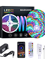 cheap -MASHANG 32.8ft 10M RGB LED Strip Lights Waterproof Music Sync Smart LED Tiktok Lights 540LEDs 2835 Color Changing with 24 keys Remote Bluetooth Controller for Home Bedroom TV Back Lights DIY Deco