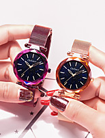 cheap -DEFORCE Women's Quartz Watches Quartz Modern Style Stylish Casual Water Resistant / Waterproof Stainless Steel Analog - Rose Gold Black Dark Purple