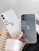 cheap -Case For Apple iPhone 11 / iPhone 11 Pro / iPhone 11 Pro Max Pattern Back Cover Word / Phrase / Transparent / Cartoon TPU
