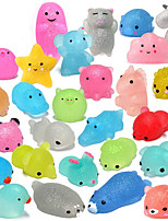 cheap -Squishy Squishies Squishy Toy Squeeze Toy / Sensory Toy Animal Series Mini Stress and Anxiety Relief Glitter Shine Mochi For Kid's Adults' Boys and Girls Gift Party Favor 28 pcs