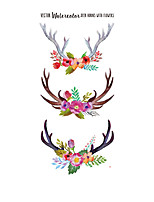 cheap -1 pcs Temporary Tattoos Flowers Temporary Tattoos Stickers, Roses, Butterflies and Multi-Colored Mixed Style Body Art Temporary Tattoos for Women, Girls or Kids