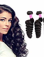 cheap -3 Bundles Brazilian Hair Loose Wave Remy Human Hair 100% Remy Hair Weave Bundles 300 g Natural Color Hair Weaves / Hair Bulk Human Hair Extensions 8-28 inch Natural Color Natural Black Human Hair