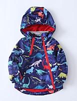 cheap -Kids Boys' Basic Dinosaur Animal Print Long Sleeve Blouse White