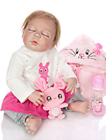 cheap -KEIUMI 22 inch Reborn Doll Baby & Toddler Toy Reborn Toddler Doll Baby Girl Gift Cute Lovely Parent-Child Interaction Tipped and Sealed Nails Full Body Silicone 23D35-C132-H21-T21 with Clothes and