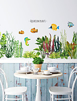 cheap -Green Grass Wall Stickers Decorative Wall Stickers, PVC Home Decoration Wall Decal Wall Decoration / Removable