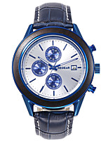 cheap -Men's Sport Watch Quartz Modern Style Sporty Casual Water Resistant / Waterproof Leather Analog - Black Blue Green