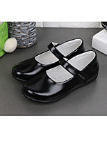 cheap -Girls' Flats Comfort / Mary Jane / School Shoes Pigskin Leather Shoes Little Kids(4-7ys) / Big Kids(7years +) Buckle Black Spring / Fall / Booties / Ankle Boots