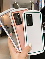 cheap -Case For Huawei HUAWEI P40  HUAWEI P40 PRO Shockproof Transparent Back Cover Transparent  Solid Colored TPU  PC