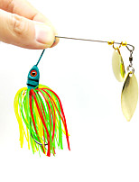 cheap -1 pcs Fishing Lures Fishing Bait Buzzbait & Spinnerbait Flies Sinking Bass Trout Pike Bait Casting Other Lure Fishing Silicone