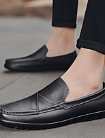 cheap -Men's Summer / Fall Casual / British Daily Outdoor Loafers & Slip-Ons Walking Shoes Leather / Nappa Leather Breathable Non-slipping Wear Proof Light Brown / Dark Brown / Black