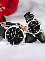 cheap -RONMAR Quartz Watches Quartz Modern Style Stylish Classic Water Resistant / Waterproof Genuine Leather Analog - White / Black Black Brown / Stainless Steel