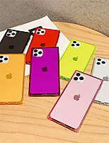 cheap -Case For Apple scene picture iPhone 11 11 Pro 11 Pro Max solid color translucent square four corners anti-fall TPU material mobile phone case