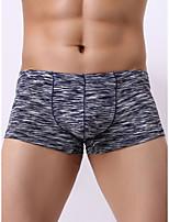 cheap -Men's Basic Boxers Underwear - Normal Low Waist Black Purple Green M L XL