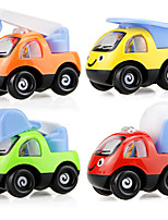 cheap -Toy Car Pull Back Car / Inertia Car Mini Truck Police car Cartoon Toy Colorful Plastic Mini Car Vehicles Toys for Party Favor or Kids Birthday Gift 6 pcs