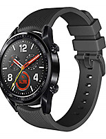 cheap -Replacement 22mm Stripe Silicone Black Clasp Wristband for Huawei Watch GT Sport Smart Watch Strap