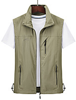 cheap -Men's Hiking Vest / Gilet Outdoor Windproof Quick Dry Top Fishing Black / Red / Army Green / Grey / Khaki