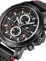 cheap -PAGANI Men's Sport Watch Quartz Modern Style Sporty Leather Water Resistant / Waterproof Calendar / date / day Noctilucent Analog Casual Outdoor - Black / Silver Black Blue / Stainless Steel