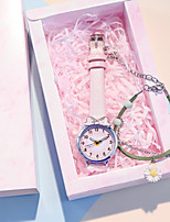 cheap -Women's Quartz Watches Quartz Modern Style Stylish New Arrival Chronograph PU Leather White / Red / Pink Analog - White Blue Red