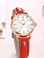 cheap -Women's Quartz Watches Quartz Modern Style Stylish Casual Water Resistant / Waterproof Genuine Leather Analog - Golden+Red White+Gold White