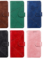 cheap -Case For Motorola G6 G7 G7 PLAY G7 POWER E5 PLAY G6 PLAY E6PLUS G8 POWER Card Holder Flip Pattern Full Body Cases PU Leather TPU Lines Solid Colored Geometric Pattern Magnetic