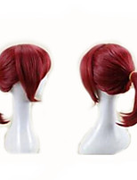 cheap -Synthetic Wig Cosplay Wig Kyoko Sakura Puella Magi Madoka Magica Straight Cosplay Free Part Wig Short Red Burgundy#530 Synthetic Hair 14 inch Women's Cosplay Red