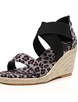 cheap -Women's Sandals Summer Stiletto Heel Open Toe Daily PU Black / Pink