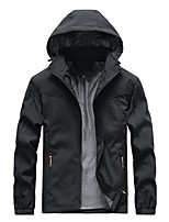 cheap -Men's Hiking Jacket Hiking Windbreaker Outdoor Thermal / Warm Waterproof Windproof Breathable Top Camping / Hiking Hunting Fishing Black / Blue / Green / Quick Dry / Quick Dry / Winter