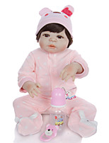 cheap -KEIUMI 22 inch Reborn Doll Baby & Toddler Toy Reborn Toddler Doll Baby Girl Gift Cute Washable Lovely Parent-Child Interaction Full Body Silicone 23D01-C36-H94 with Clothes and Accessories for Girls