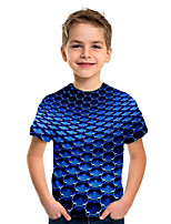 cheap -Kids Boys' Sports & Outdoors Basic Holiday Geometric Print Short Sleeve Tee Blue