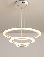 cheap -KAKAXI 3-Light 60 cm Circle Design Pendant Light Aluminum Acrylic Painted Finishes Modern 110-120V 220-240V