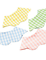 cheap -Dog Dog Bandana Dog Bibs Scarf Triangle Bibs Accessories Dog Clothes Adjustable Yellow Blue Pink Wedding Birthday Costume Shiba Inu Bichon Frise Poodle Cotton Plaid / Check Party Cute S M L