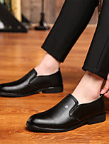 cheap -Men's Summer / Fall Casual / British Daily Party & Evening Loafers & Slip-Ons Walking Shoes Nappa Leather Breathable Wear Proof Black / Brown