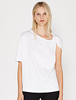 cheap -Women's Cotton Tee / T-shirt Short Sleeves Knotted Sport Athleisure T Shirt Soft Everyday Use Daily Street