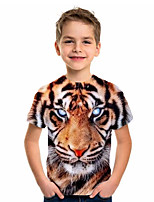cheap -Kids Boys' Basic Holiday Tiger Short Sleeve Tee Yellow
