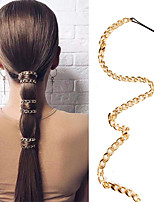 cheap -Women's Hair Jewelry For Gift Holiday Street Birthday Party Fashion Classic Aluminum Golden 1pc