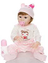 cheap -KEIUMI 22 inch Reborn Doll Baby & Toddler Toy Reborn Toddler Doll Baby Girl Gift Cute Washable Lovely Parent-Child Interaction Full Body Silicone D282-C126 with Clothes and Accessories for Girls