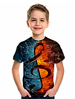 cheap -Kids Boys' Basic Holiday Geometric Print Short Sleeve Tee Brown