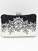 cheap -Women's Bags PU Leather Evening Bag Crystals / Beading for Daily Black / Wedding Bags