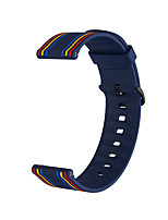 cheap -20mm Silicone Sport Strap Striped Rubber Replacement Band for venu/vivomove3/Vivomove / Vivoactive 3 / Forerunner 245M/245/645/ Garmin Sport Band / Classic Buckle Silicone Wrist Strap
