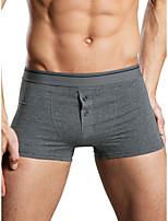 cheap -Men's Basic Boxers Underwear - Normal Mid Waist White Gray M L XL
