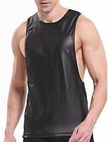 cheap -Men's Normal Touch of Sensation Round Neck Undershirt Solid Colored