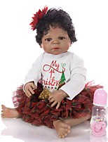 cheap -KEIUMI 22 inch Black Dolls Reborn Doll Baby & Toddler Toy Reborn Toddler Doll Baby Girl Gift Cute Lovely Parent-Child Interaction Tipped and Sealed Nails Full Body Silicone 23D45-C173-T19 with